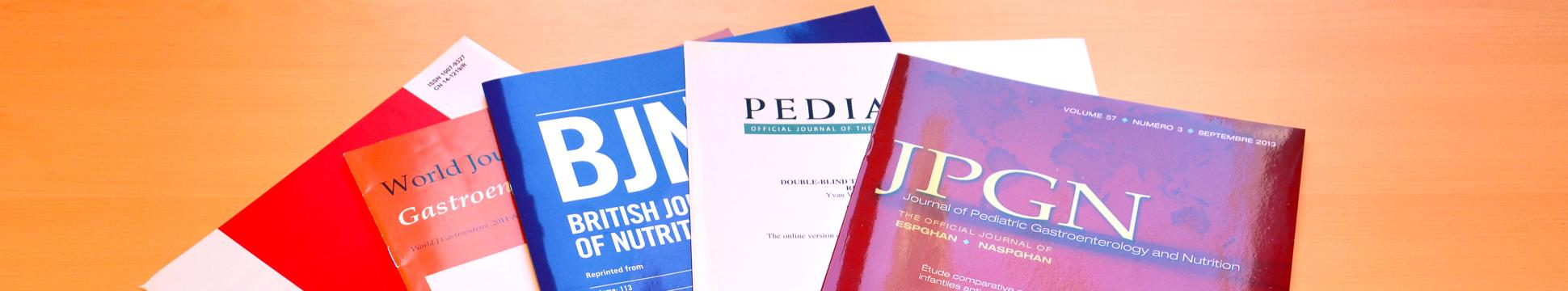 photo of publications of Novalac clinical studies