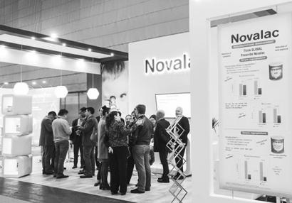 photo of a Novalac event stand