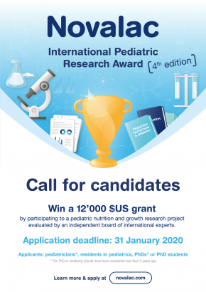 poster of the Novalac International Pediatric Research Award 4th edition